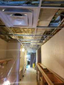 Ceiling Grid and Ductwork