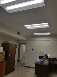 Ceiling Tile and Lights