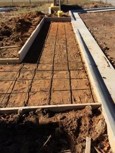 Concrete Curb and Rebar